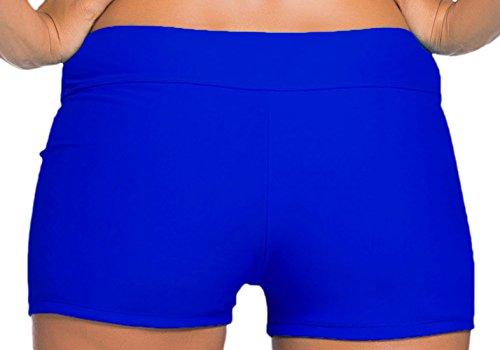Frieda Fashion - Damen Badeshorts in uni, XS-2XL, Viele Farben Blau
