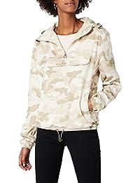 c1cc4ed6c1cbc2 Urban Classics Damen Camouflage Übergangsjacke Ladies Camo Pull-Over Jacket,  leichte Streetwear Schlupfjacke, Windbreaker Überziehjacke…