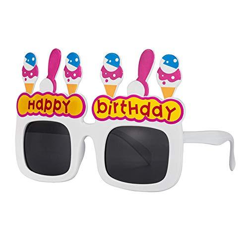 Alles Gute zum Geburtstag Brille Party Tanzshow Requisiten Parodie Foto Requisiten lustige Sonnenbrille Party Dekoration Gläser