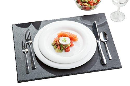 Les plaques d'Ardoise Tivoli / Lot de 6 / 30 x 40 cm / sous-verres et assiettes de service /fond des boîtes a 4 pieds en caoutchouc / belle addition à votre table à manger