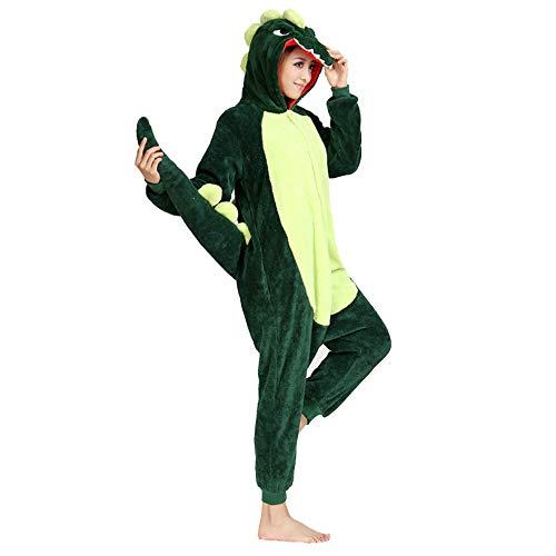 8dc8b1415c Flanella Onesies Pigiama Dinosauro Adulto Costume Cosplay per Halloween  Christmas Party Wear