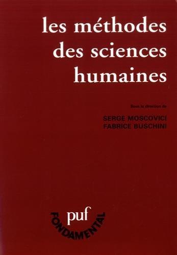 Les Mthodes des sciences humaines