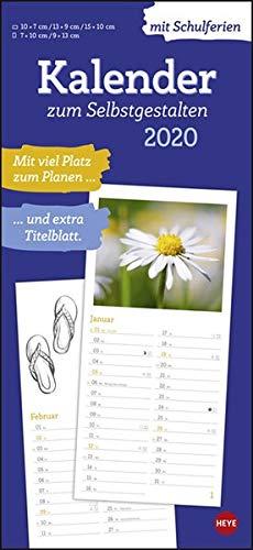 Kalender und Planer 2020 zum Selbstgestalten: Entwerfen Sie Ihren ganz individuellen Kalender! Mie viel Platz für eigene Fotos oder Zeichnungen und Eintragungen