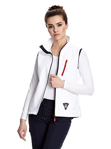 Fifty Five Damen Outdoor Weste Softshellweste Sophie - winddichter Windbreaker mit FIVE - TEX Membrane 2702wei38, Gr. 38, Weiß (white 013)