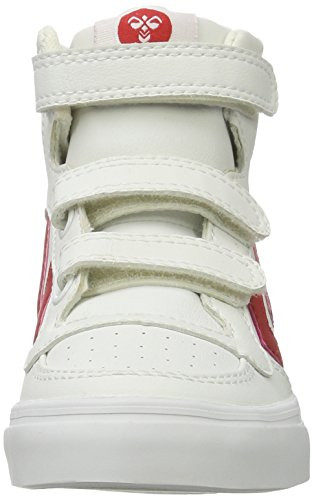 Hummel Stadil Heritage Jr, Scarpe da Ginnastica Alte Unisex – Bambini Bianco (Ribbon Red)