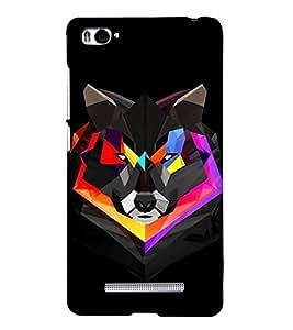 FUSON Abstract Geometric Polygonal Wolf 3D Hard Polycarbonate Designer Back Case Cover for Xiaomi Mi 4i :: Xiaomi Redmi Mi 4i