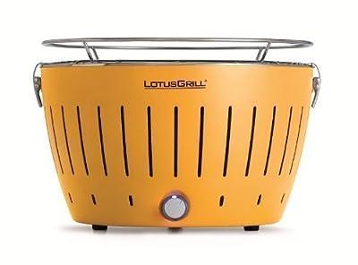 LotusGrill (Maisgelb) der rauchfreie Holzkohlegrill/Tischgrill in verschiedenen fröhlichen Farben. Garantiert immer die neueste Technik inkl. Magic Cover Ø 24 cm!