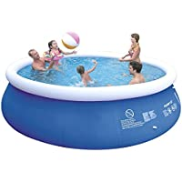 Jilong jl010217nd–P27Quick Up Pool con pompa filtro cartucce, Scaletta, fondo e telone di copertura, 450x 106cm, colore: blu Navy