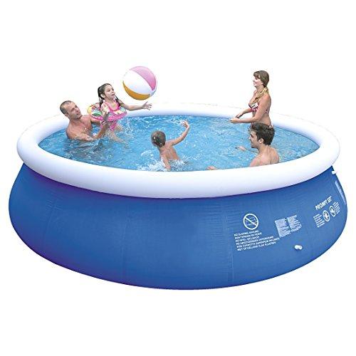 Jilong Marin Blue 450H Set - Quick-up Pool 450x106cm, mit Kartuschen-Filterpumpe, Leiter, Boden- und Abdeckplane