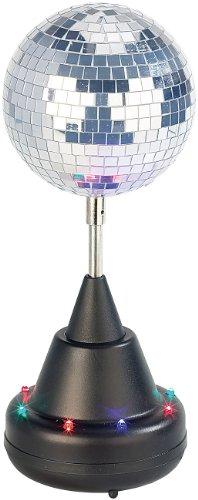 Lunartec Spiegelkugel: Farbwechsel-LED-Discokugel mit Motor und Ständer (Disco Kugeln)