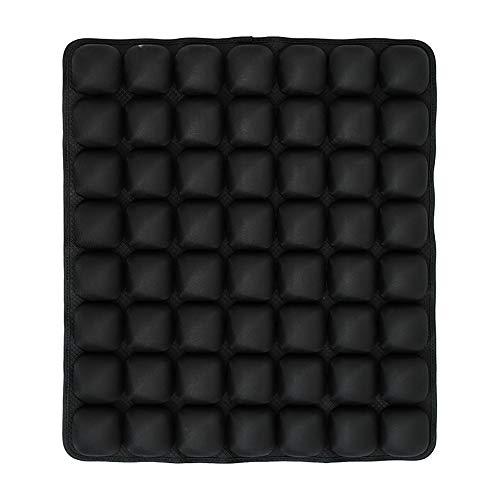 Huizz Air Cell Akupressurmatte für Körpermassage aufblasbares Kissen Rücksitz Yogakissen für Fitness Anti-Dekubitus-Schmerzlinderung,Black (Aufzug Keil)