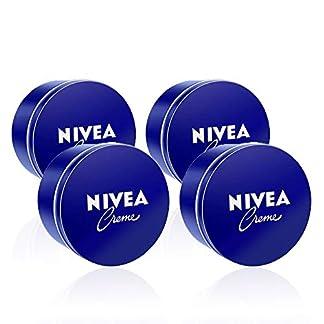 NIVEA Creme en pack de 4 (4 x 400 ml), crema hidratante corporal y facial para toda la familia, crema universal para una piel suave e hidratada, crema multiusos