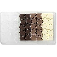 Decora molde Forma de chocolate Puzzle, policarbonato, transparente