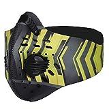 SKYSPER Maschera Sportiva Filtro, Maschera Antipolvere Anti-inquinamento con PM2.5 Cartuccia Filtro Sostituibile per Bicicletta Respiratore attività all'Aria Aperta