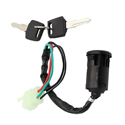 Sharplace 1 Stück 4-Polig Zündschlussel Schalter, Reparatur Ersatzteil für 110cc 125cc 250cc ATV Quad
