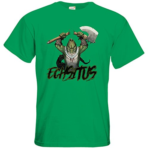 getshirts - Das Schwarze Auge - T-Shirt - Let's Plays - Echsitus Kelly Green