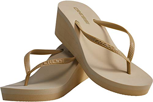 Cressi Lady Flops Marbella High Heel, Ciabatta Infradito Donna, Oro, 35/36