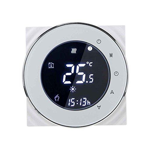 Programmierbare LCD-Anzeige Wasser-Heizungs-Thermostat NTC Temperaturregler Negative Anzeige für Modbus-Kommunikation Mengonee (Programmierbare Lcd-anzeige)