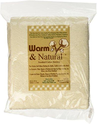 Warm Company Batting - Imbottitura per coperte piccole in cotone, 86 x 114 cm, naturale - Naturale Di Cotone Per Cucire