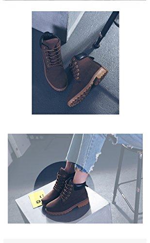Minetom Buchi Donna Stivaletti 6 Corti Martin Adulto Stivali Moda Autunno Stivaletti Marrone Ragazza Boots xW4UnrT1qW