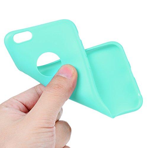 Badalink Coque iPhone 6 6S, Case Housse Étui Bumper Coque TPU Silicone Gel Mat Souple Flexible Ultra Mince Slim Léger Anti Rayure Antichoc Housse Étui iPhone 6 6S Coque Bleu Bleu