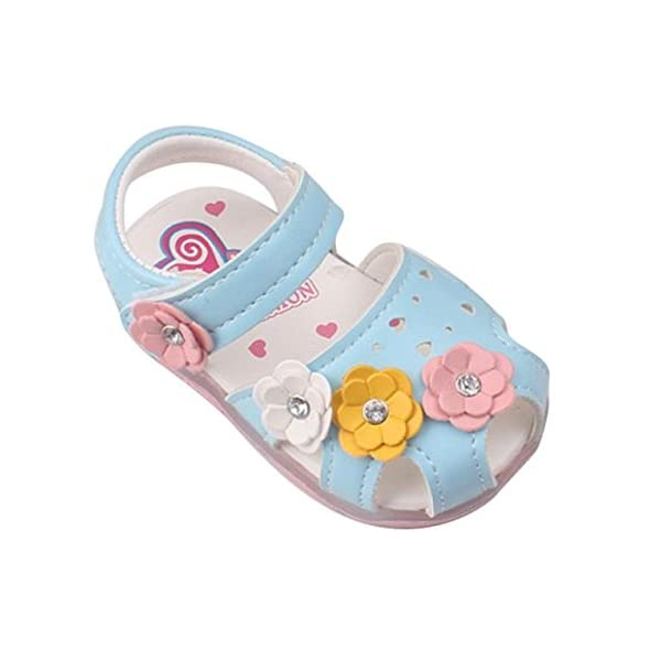WINWINTOM Toddler New Flowers Girls Sandals Lighted Soft-Soled Princess Baby Shoes