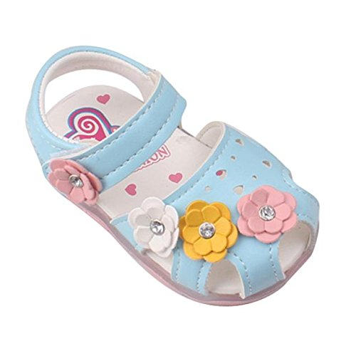 b71907d61f1 WINWINTOM Toddler New Flowers Girls Sandals Lighted Soft-Soled Princess Baby  Shoes