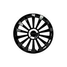 Good Year GOD9033 - Set of 4 Universal Hubcap-Car Wheel Trims Flexo 40, Black, 15 inches