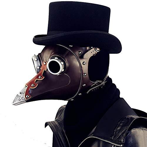 Halloween PU-Maske - Steampunk Domineering Pest Arzt Maske PU-Leder Gothic Masquerade Maske Rolle Spielen Requisiten-29 * 20 * 24CM