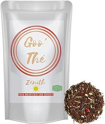 Goo-Thé Zenith BIO, infusion gourmande, aide a la Digestion, anti-oxydante, rooibos-citronnelle-gingembre, sans théine