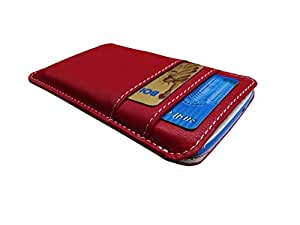 ATV Genuine Leather RED Designer Pouch Case Cover For LG Optimus F3