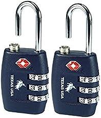 Texas USA Navy Blue(Set Of 2) Luggage Lock