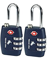 Texas USA Navy Blue(Set Of 2) Luggage Lock