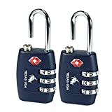 Texas Usa Pack Of 2 Metal Navy Blue Luggage Lock