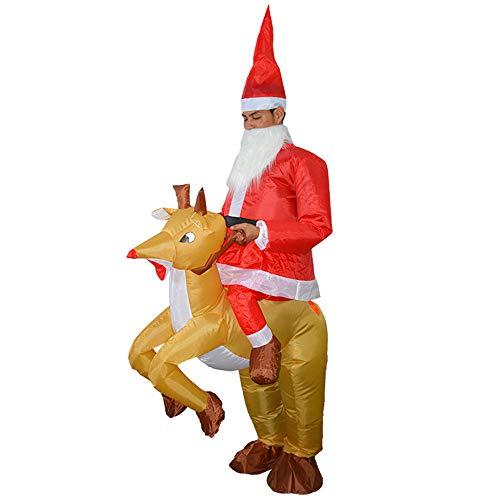 Disfraz hinchable para disfraz de disfraces y disfraces, disfraz para Halloween, fiesta de Navidad Santa Claus and Elk