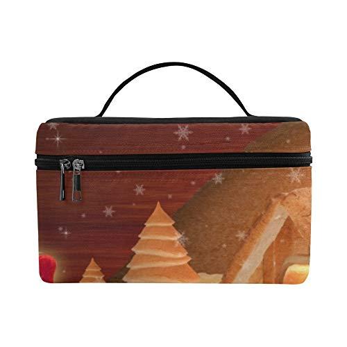 Brotkasten mit Weihnachtsmann und Weihnachtsmann, festliches Fotomuster, Lunchbox, Lunchbox, isoliert, für Damen/Herren/Picknick/Bootfahren/Strand/Angeln/Schule/Arbeit