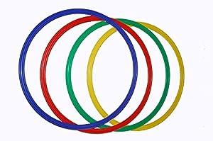 agility sport pour chiens - lot de 8 cerceaux Ø 60 cm, 4 coloris - 8x