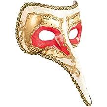 BOLAND BV Boland 00282–Máscara de estilo veneciano con nariz, talla única, color blanco