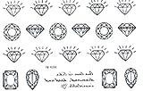 GRASHINE New lauch heißer Verkauf wasserdicht und modische schwarze Diamant-Schmuck und realistische gefälschte temporäre Tattoos Sticker