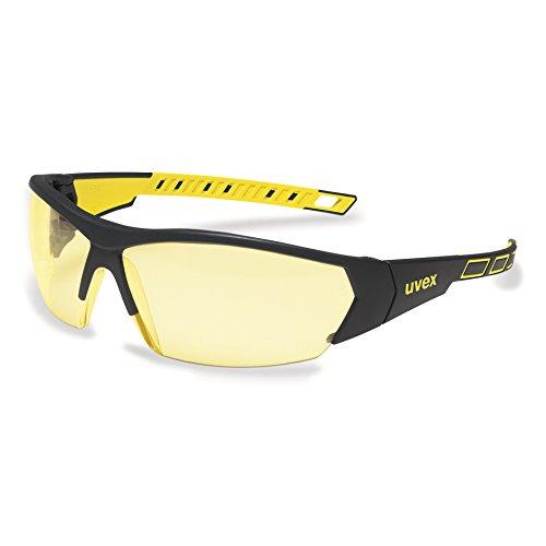uvex i-works 9194 Unisex Brille EN 166 mit UV-Schutz + Hardcase - Sonnenbrille Schutzbrille Sportbrille Arbeitsbrille Radbrille (gelb/amber)