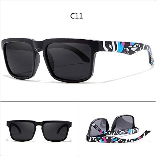 Ludzzi polarisierte quadratische sonnenbrille für männer kunststoff bunte mode fahren brillen sport sonnenbrille