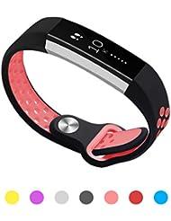 Kutop Fitbit Alta HR Correa, Suave Silicona deportivo Reemplazo de Banda de Gel Sílice Pulsera de Reloj Ajustable para Fitbit Alta HR