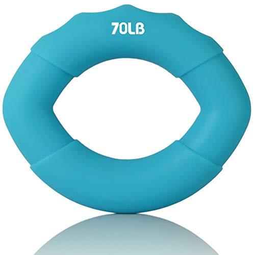 Chqw Übungs-Gadget, Grip-Trainer, Handtrainer, Handverstärker, Trainingsgeräte für die Rehabilitation von Hand, Hohe Qualität, Langlebig, 20-80 kg , Gummi (Color : Blue 70lb)