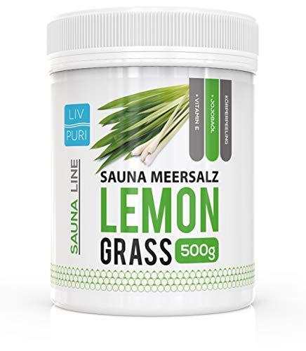 Sauna Meersalz Peeling Salz Saunasalz | Lemongrass 500g | mit Jojobaöl | Kosmetik für die Haut |...