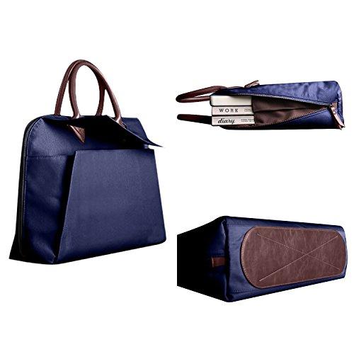 Herren Aktentasche Henkeltasche Ledertasche Arbeitstasche 15 zoll Laptoptasche Rosa Blau