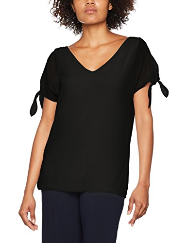 ESPRIT Damen Bluse 047EE1F029 Schwarz (Black 001), 38