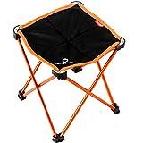 TRIWONDER Tragbare Camping Hocker, Outdoor Klappstuhl Slacker Stuhl für Camping Backpacking Wandern Angeln Reisen Garten BBQ mit Trage Sack (Orange)