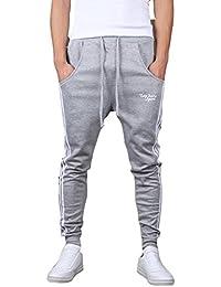 Minetom Hombres Moda Pantalones Hippie Harén Pantalones De Deportivos Ocio Aptitud Pantalones