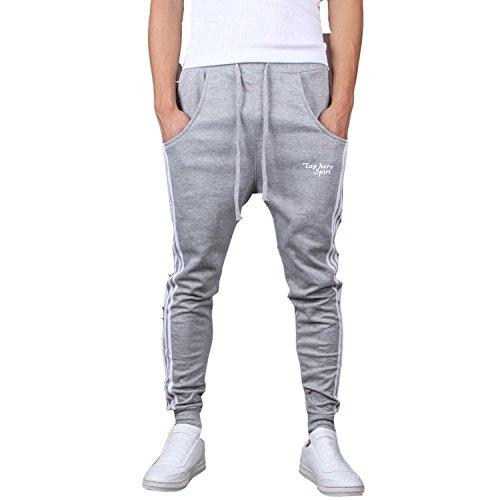 Minetom Hombres Moda Pantalones Hippie Harén Pantalones De Deportivos Ocio Aptitud Pantalones...