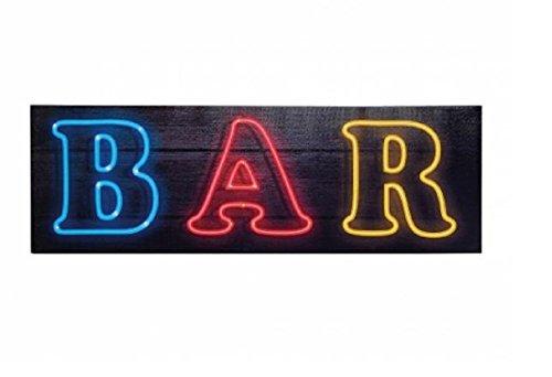 Bar Beleuch Ted murale AM Telaio Bar con LED 90x 30cm con funzionamento a batteria